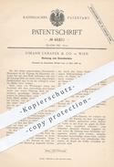 Original Patent - Johann Urbanek & Co. In Wien , 1888 , Werkzeug Zum Glasschneiden   Glasschneider , Glas , Glaser !! - Documenti Storici