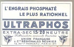 Buvard ULTRAPHOS L'Engrais Phosphaté Le Plus Rationnel ULTRAPHOS Extra-Sec 15/20 Neutre - Agriculture