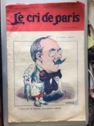 Le Cri De Paris Justin Godart Docteur Medecin Lavement Pub Lampes Z Juillet 1917 - Giornali