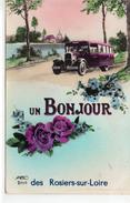 """Les Rosiers-sur-Loire Belle Fantaisie """"un Bonjour Des Rosiers-sur-Loire"""" Car Autocar Bus Autobus - Autres Communes"""