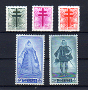 1948      Portraits Sénat II, 787 / 791*, Cote 36 €, - Ungebraucht