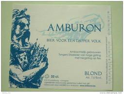 AMBURON 33 Cl / 7 % Alc. Tongeren ( 85 X 100 Mm. / Details Op Foto ) !! - Bière