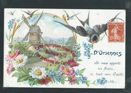 NN550 - D' Orsennes Elle Vous Apporte Ces Fleurs ... Moulin Hirondelle Lithographie - Litho - Francia
