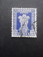 INDE Service N°21 Filigrane étoile Oblitéré - Dienstzegels