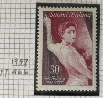 PAINTINGS COLLECTION DG - FINLAND 1957 Yv. 466 MNH Stamp - 100th Anniversary Of The Birth Of The Actress Ida Aalberg - Finland