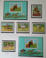 PAINTINGS COLLECTION DG - FUJEIRA 1971 Mi. 582-586 + Block 33A/33B Cplte Set 5v. + 2 S/S MNH - Horses - Fujeira