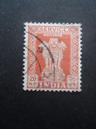 INDE Service N°29 Filigrane A Oblitéré - Dienstzegels