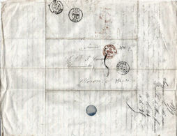 LETTRE 1823 MARQUE POSTALE ZARAGOZA-ESPAGNE/ST JEAN DE LUZ < PAU-OLORON - Sammlungen