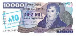 Argentina - Pick 322 - 10 Australes = 10.000 Pesos Argentinos 1985 - AUnc - Argentine