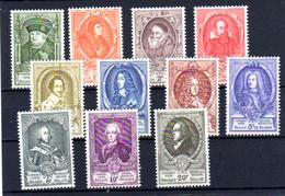 1952   Congrès Des U.P.U., 880 / 890**, Cote 165 €, Sans Le 891 - Belgique