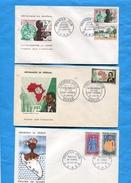 MARCOPHILIE- Sénégal-3enveloppes FDC-Poupées De Gorée-1966-la Lepre1965-1er Sous Com Plan U I T 1962 - Senegal (1960-...)