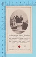 Image Reliquaire  - Relique Les Bh. Martyrs Canadiens - Relic  Reliquia - 3 Scans - Religion & Esotérisme