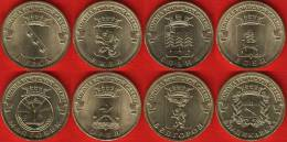 """Russia Set Of 8 Coins: 10 Roubles 2011 """"Towns Of Martial Glory"""" UNC - Rusland"""