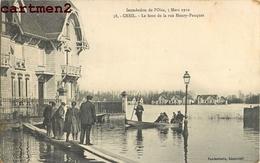 CREIL BOUT DE LA RUE HENRY-PAUQUET INONDATION DE L'OISE 60 - France