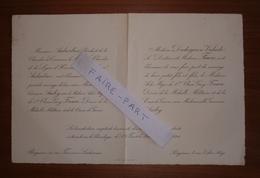 FAIRE-PART MARIAGE 1918 FAURE # AUDRY DUDOIGNON-VALADE AUBARBIER Périgueux Dordogne Périgord Généalogie - Mariage