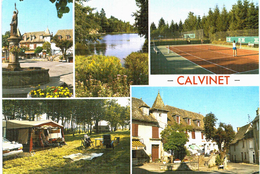 Calvinet Divers Aspects Du Bourg - étang Camping Tennis - Non Classés
