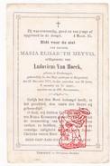 DP 30j. Maria E. Meyvis ° Zondereygen Zondereigen Baarle-Hertog 1841† Borgerhout 1871 X Ludovicus Van Hoeck - Images Religieuses