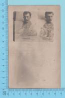 Photo Montage - Montage  Grosse Tete à La Peche Et En Auto , Photo Reel Post Card Cartolina 2scans - Cartes Postales