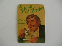 Drink Torrefaction Coffee/Café/Caffe Brasileira De Lisboa Portugal Portuguese Pocket Calendar 1992 - Calendari
