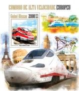 GUINE BISSAU 2013 SHEET SPEED TRAINS GRANDE VITESSE TGV TRENES DE ALTA VELOCIDAD Gb13406b - Guinea-Bissau