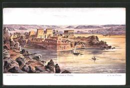CPA Illustrateur Friedrich Perlberg: Insel Philae - Perlberg, F.