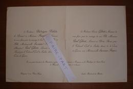 FAIRE-PART MARIAGE 1919 GIBERT # FAURE DUDOIGNON-VALADE Sarlat Périgueux Dordogne Périgord Généalogie - Mariage