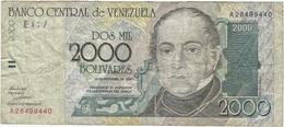 Venezuela 2.000 Bolivares 1998 Pick 80 UNC - Venezuela