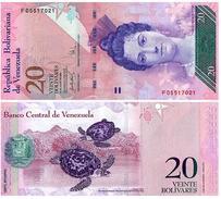 Venezuela 20 Bolivares 24-5-2007 Pick 91.b UNC - Venezuela