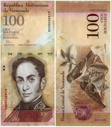 Venezuela 100 Bolivares 2015 Pick 93.i UNC - Venezuela