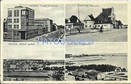 73460 POLAND POLONIA GDYNIA POST OFFICE STREET MULTI VIEW CARD NO POSTAL POSTCARD - Pologne