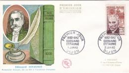 France FDC 1962 Edouard Estaunie (T19-3) - FDC