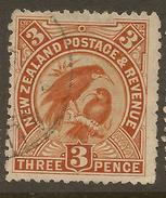 NZ 1898 3d Huia SG 251 U #ZS548 - 1855-1907 Crown Colony