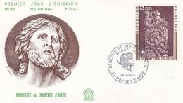 France FDC 1973 Boiseries Du Motierd'Ahun (T19-4) - FDC