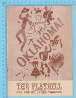 OKlahoma , Playbill - USA St-James Theatre  September 1947, 42 Pages , Full Of Publicity, 4 Scans - Programmes