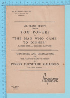 """Montreal Quebec - His Majesty's Theatre  Programme October 1941 - 5 Pages """" Tom Powers 4 Scans - Programmes"""