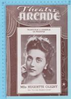 "Mlle Huguette Oligny Montreal Quebec - Théatre Arcade Programme October 1946 - 8 Pages ""les Deux Madame Carroll"" 3 Scan - Programmes"