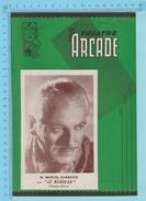 """Comedien M. Marcel Chabrier Montreal Quebec  - Theatre Arcade - """" Le Berceau""""  Avril 1945 - 8 Pages 3 Scans - Programmes"""
