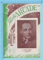 """Comedien M. Marcel Journet Montreal Quebec - Theatre Arcade - """"La Chatelaine""""  Septembrel 1945 - 8 Pages 3 Scans - Programmes"""