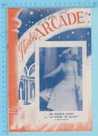 """Comedien Mlle Huguette Oligny Montreal Quebec - Theatre Arcade - """" La Femme En Blanc """"  Octobre 1945 - 8 Pages 3 Scans - Programmes"""