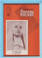 Comedienne Mlle Janine Sutto Montreal Quebec  - Theatre Arcade - L'Exaltation - Mars 1945 - 8 Pages, 3 Scans - Programmes