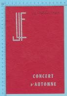 Montreal Quebec - Ligue De La Jeunesse Feminine -Concert D'Hautomne 3 Grand Artiste - 16 Oct 1943 - 6 Scans - Programmes