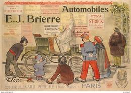 Automobile E.J.Brierre Paris 1900 - Postcard - Poster Reproduction - Publicité