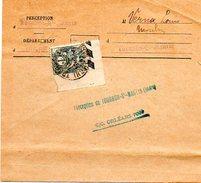 H661   1c Blanc Utilisé Sur Avertissement Fiscal  Tournon Saint Martin Indre - 1900-29 Blanc