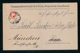 Österreich Insbruck-Feuerwehr-  Beleg   (ze4588    ) Siehe Bild ! - 1850-1918 Empire