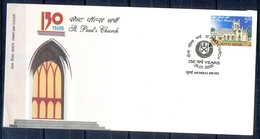 J215- FDC Of India 2009. 150 Years Of St.Paul's Church. Architecture. - India