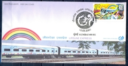 J216- FDC Of India 2009. Lifeline Express, Worlds First Modern Hospital Express Train. - Covers & Documents