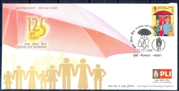 J221- FDC Of India 2009. Postal Life Insurance, PLI, 125th Year Anniversary. - Covers & Documents