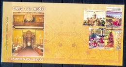 J224- Raza Library Of Rampur, Ram & Lakshman, Archery, Archer, Madona, Book, Architecture, Akbar & Jahangir FDC, India I - India