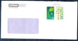 J224- Deutschland Germany Postal History Post Card. ATM Machine Label Stamp. - Machine Stamps (ATM)