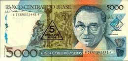 BRESIL 5/5000 CRUZADOS NOVOS  De 1989nd  Pick 217a  UNC/NEUF - Brésil